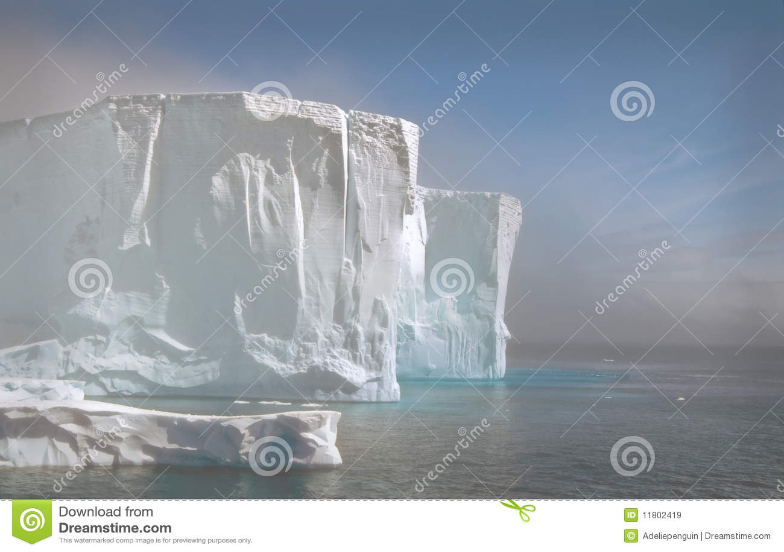 Iceberg in the Fog, Antarctica
