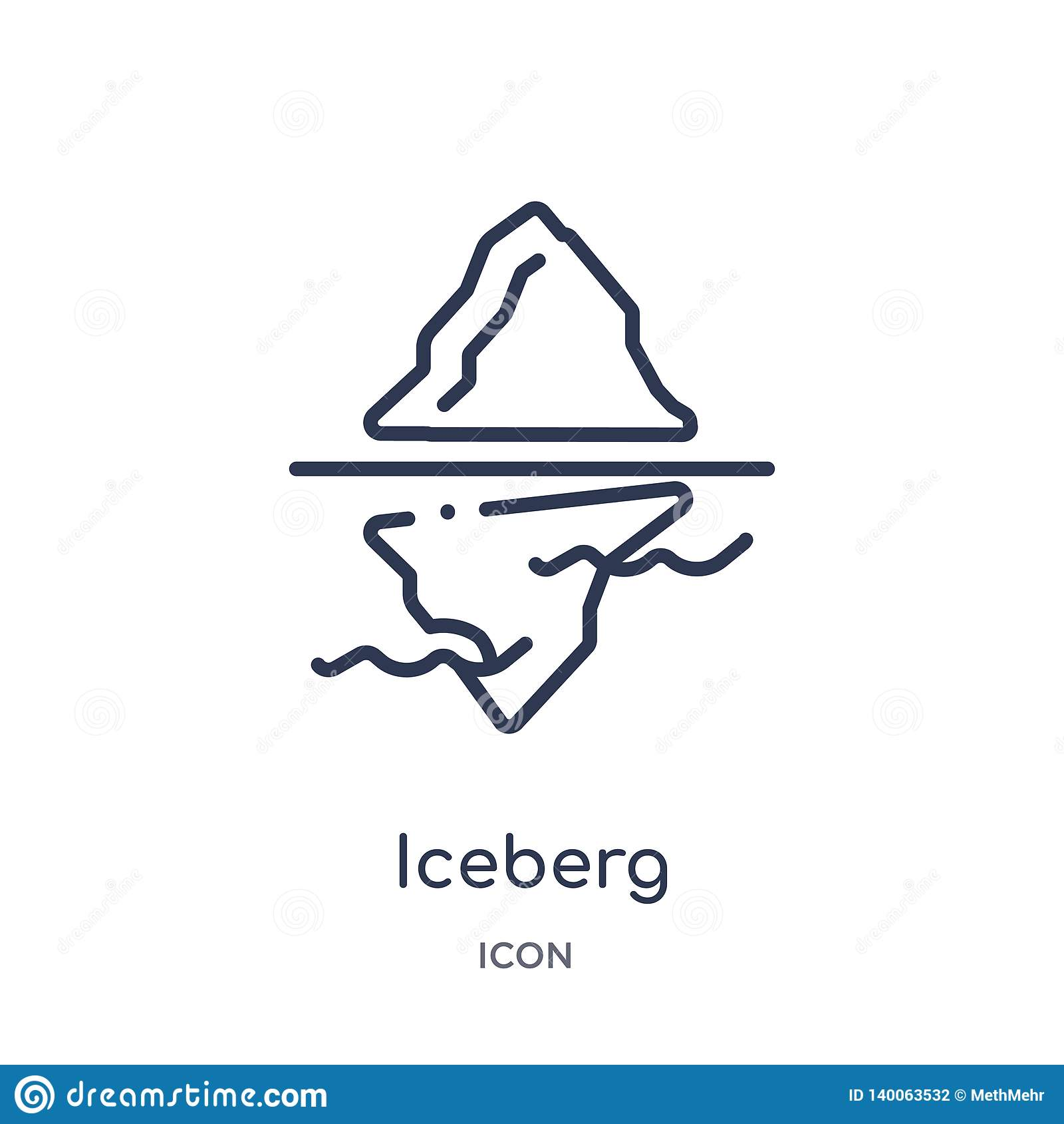 best website 98e78 087f7 Iceberg Icon From Nature Outline Collection. Thin Line ...