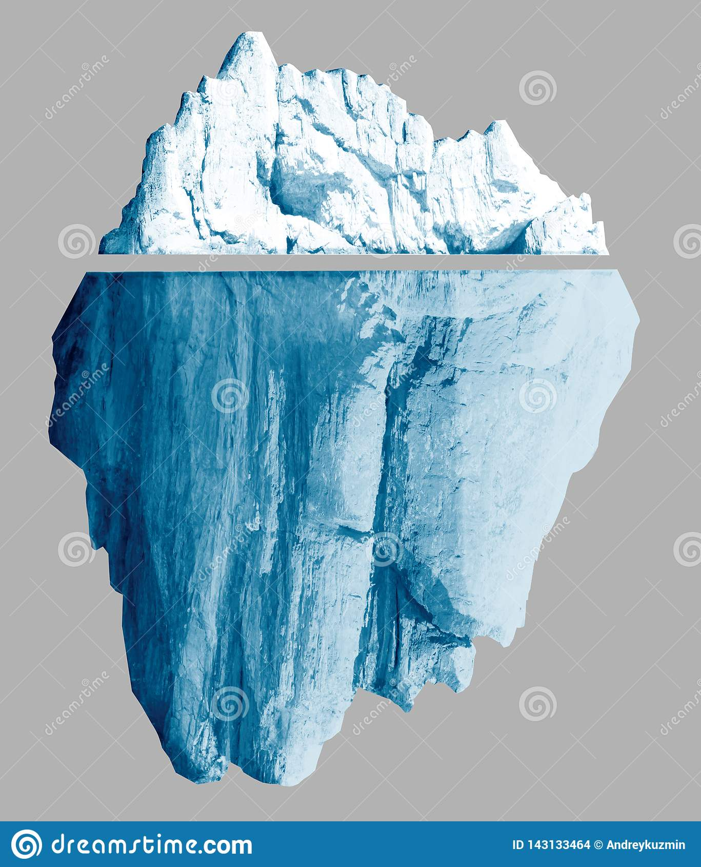 Iceberg isolated with clipping paths included 3d illustration