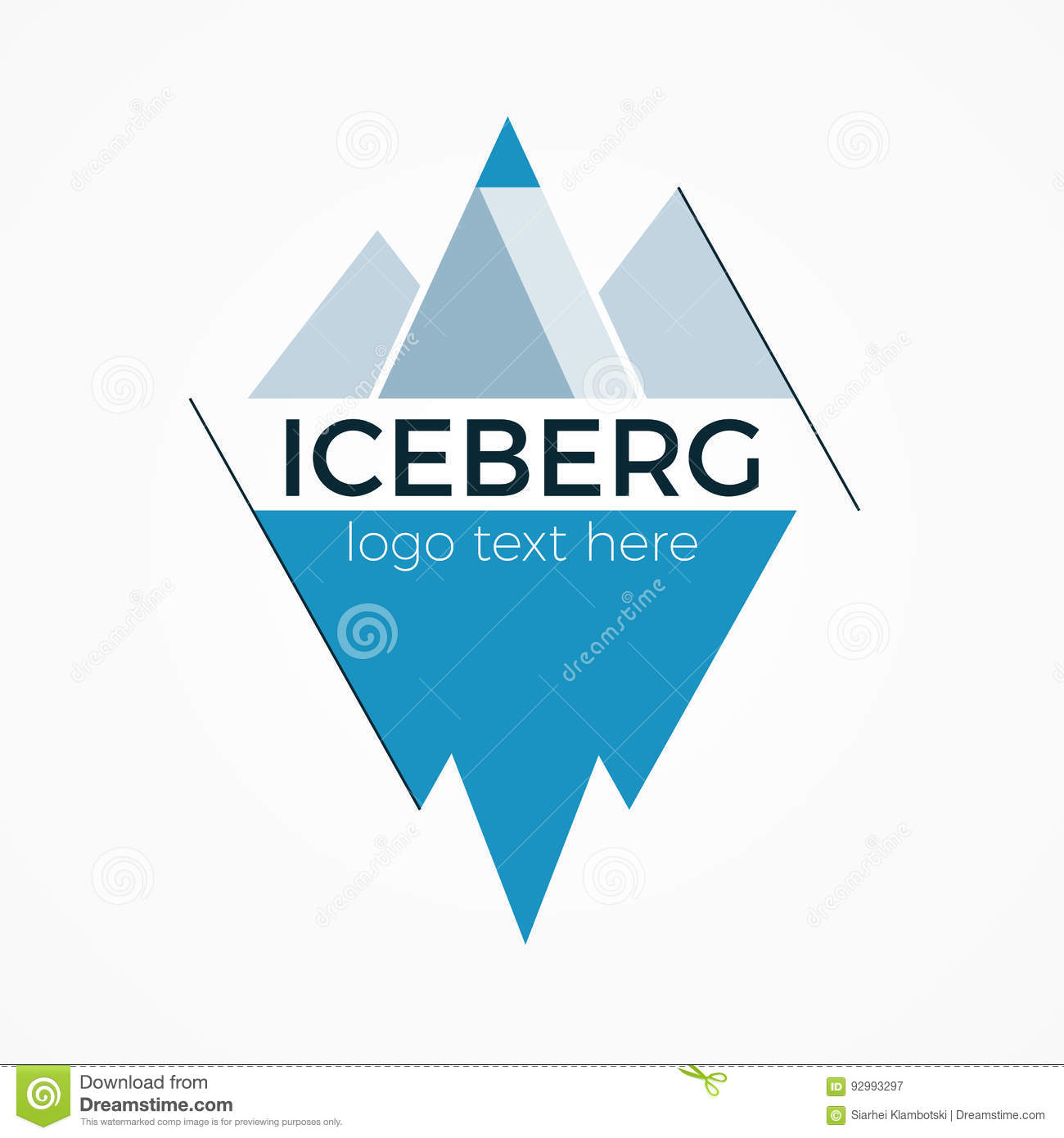 sports shoes 0dd70 6eb4e Iceberg logo concept stock vector. Illustration of freeze ...