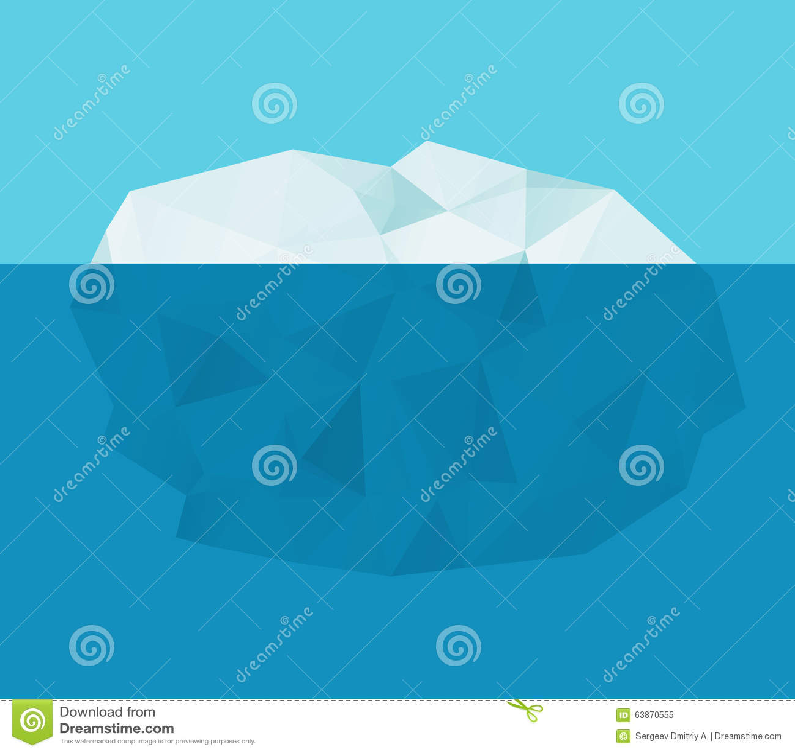 Iceberg nell acqua