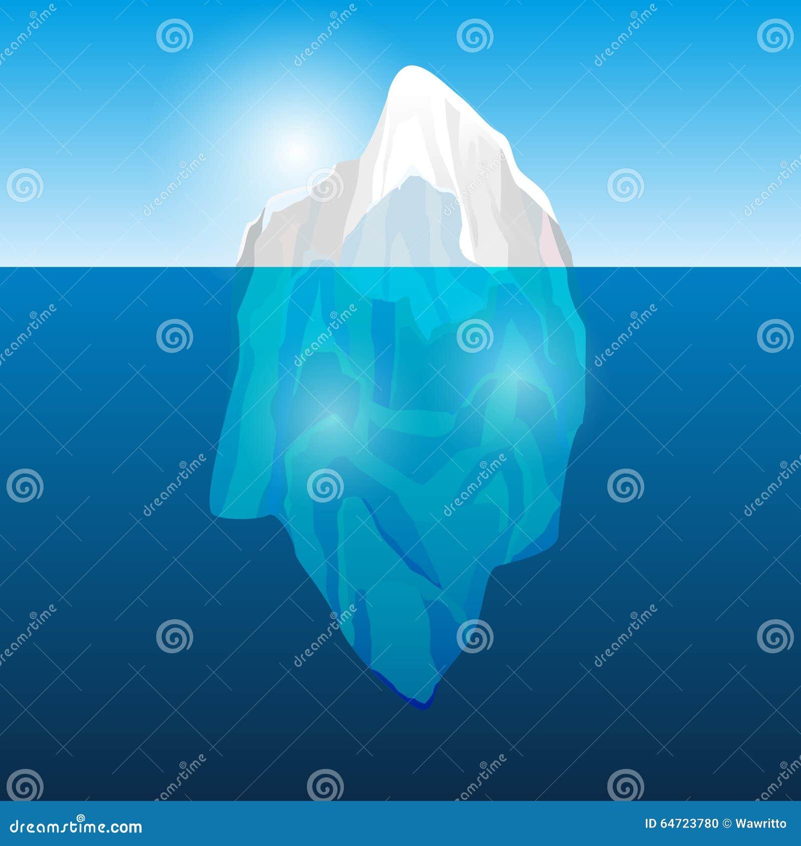 Iceberg nell oceano,