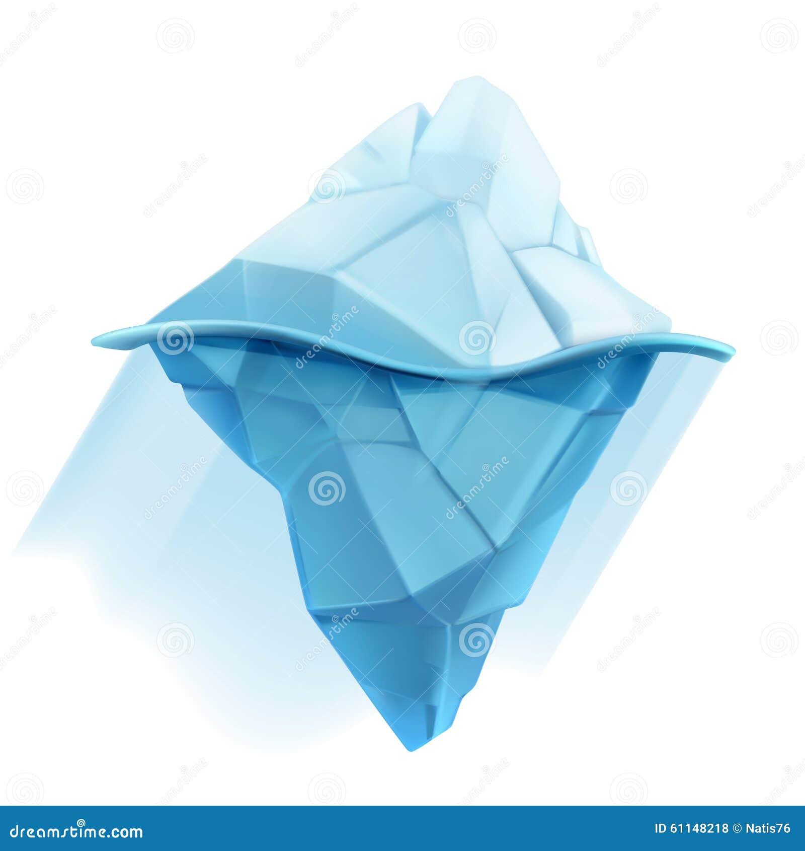 Iceberg Vector Icon Stock Vector - Image: 61148218