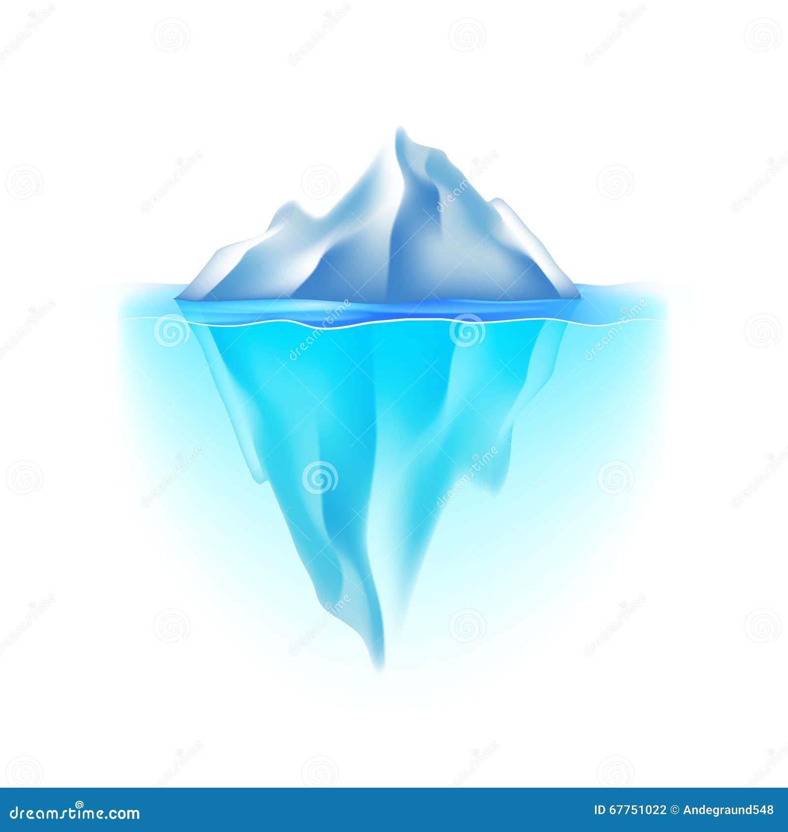 Iceberg on white vector stock vector image of clip 67751022 for Clipart iceberg