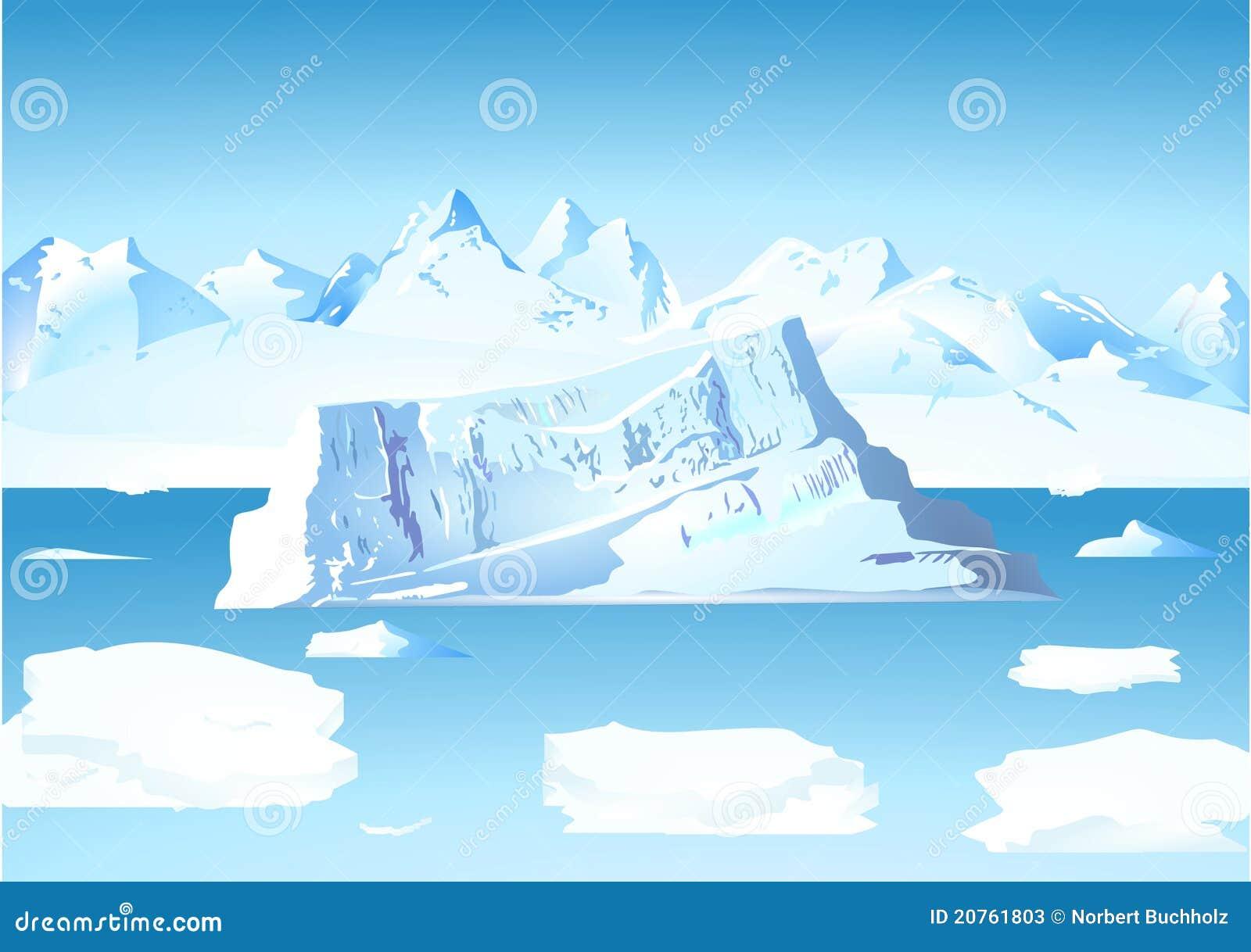 Iceberg y glaciar