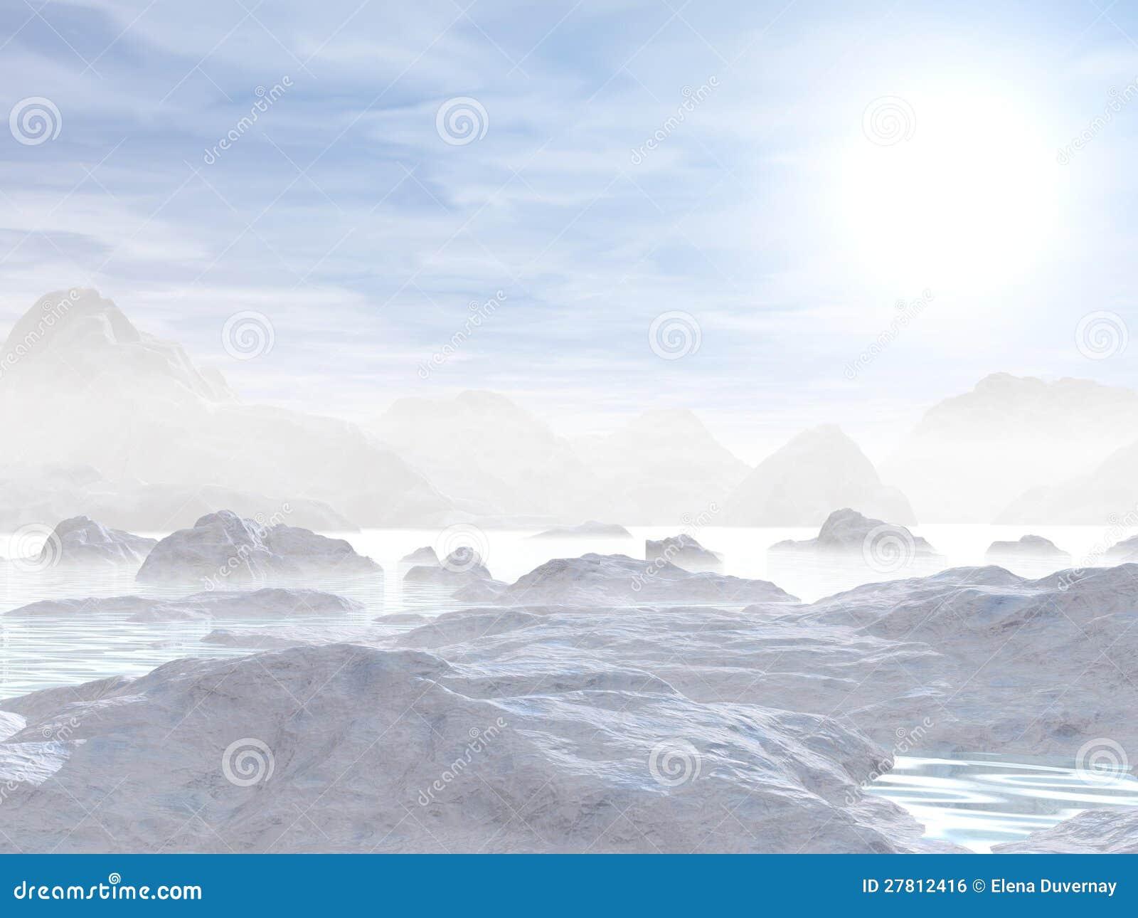 Icebergs - 3D rinden
