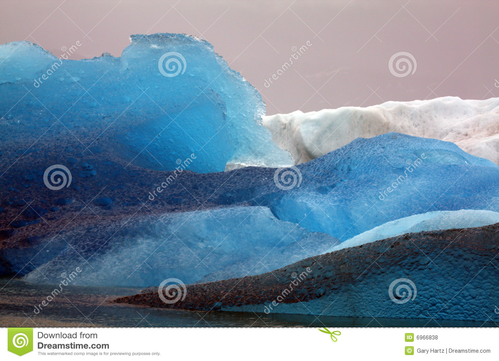 Icebergs de glacier de l Alaska