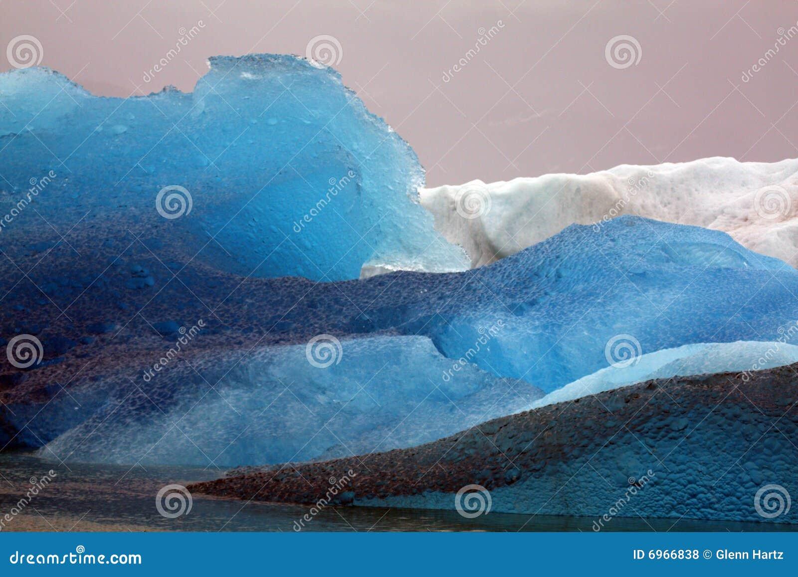 Icebergs from Glacier, Alaska
