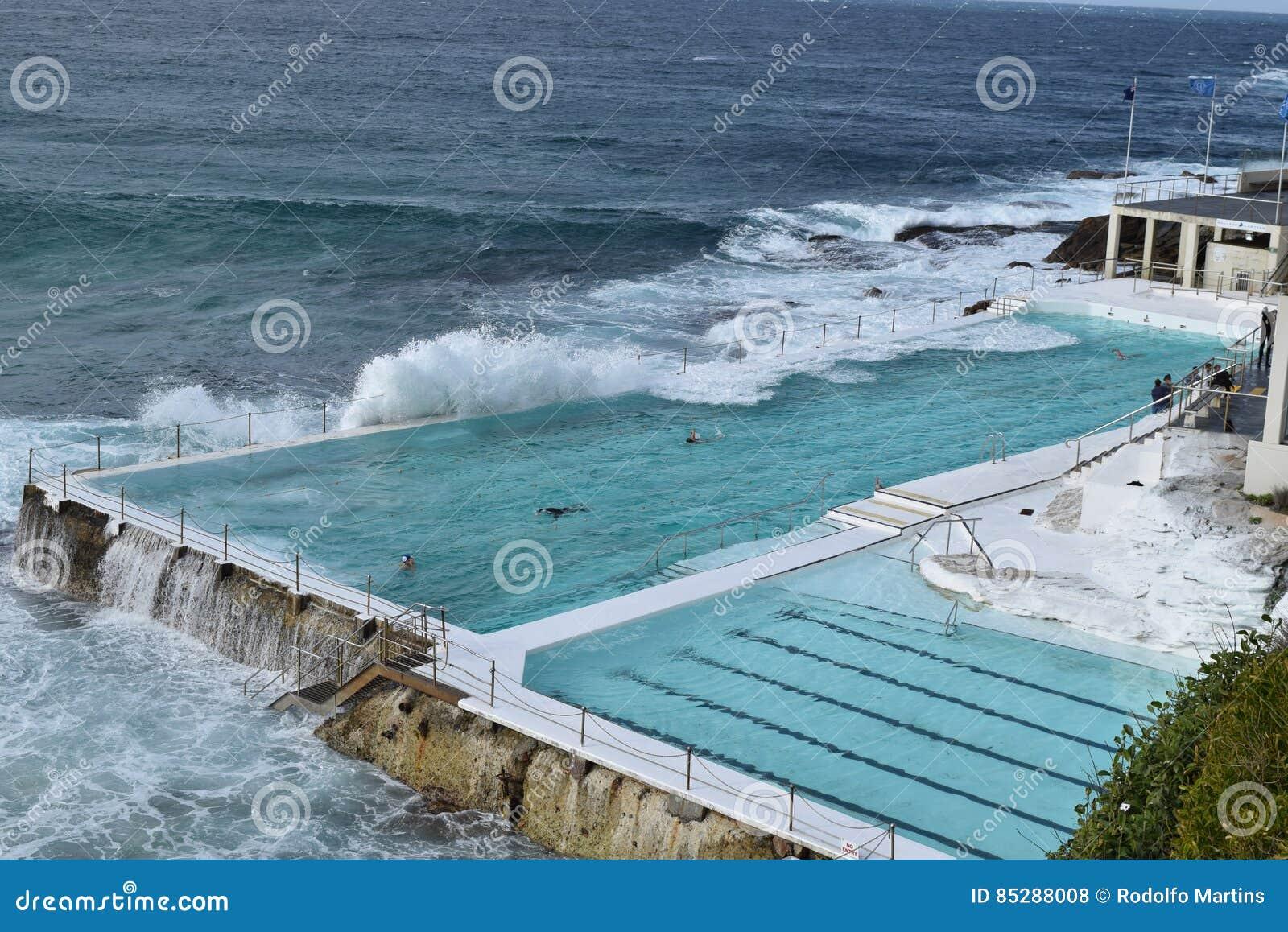 Icebergs Ocean Pool In Bondi Beach Stock Photo Image Of Backgroud Ocean 85288008
