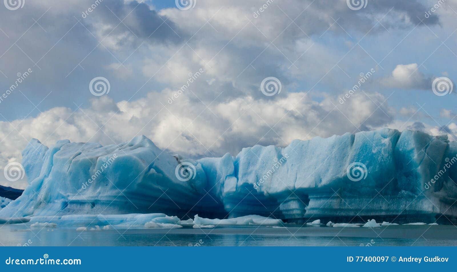 Icebergs in the water, the glacier Perito Moreno. Argentina.