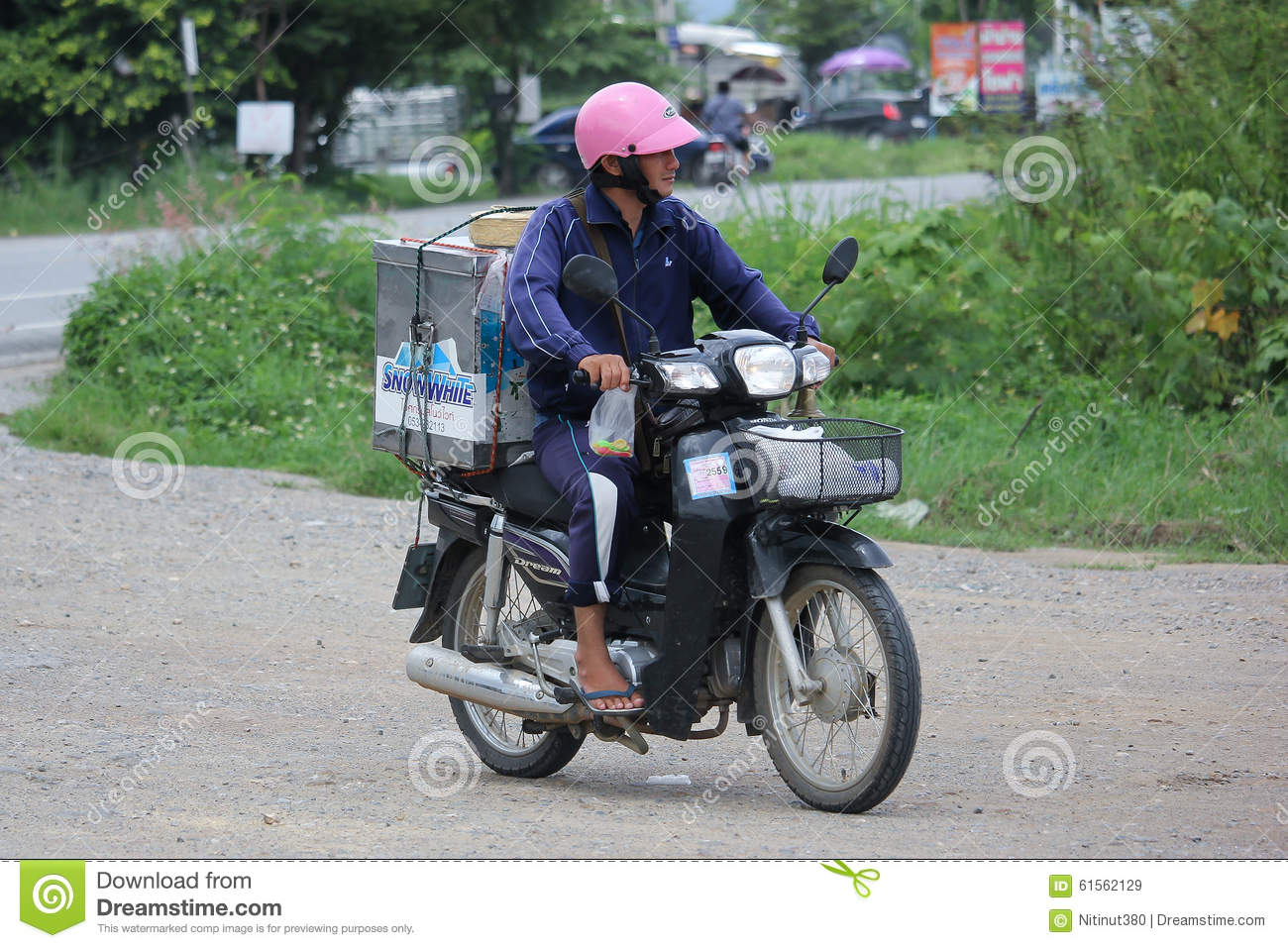 Icecream Sale On A Motorcycle Editorial Stock Image - Image