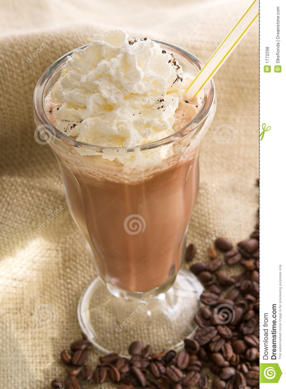 Iced coffee latte stock photo. Image of latte, food ...