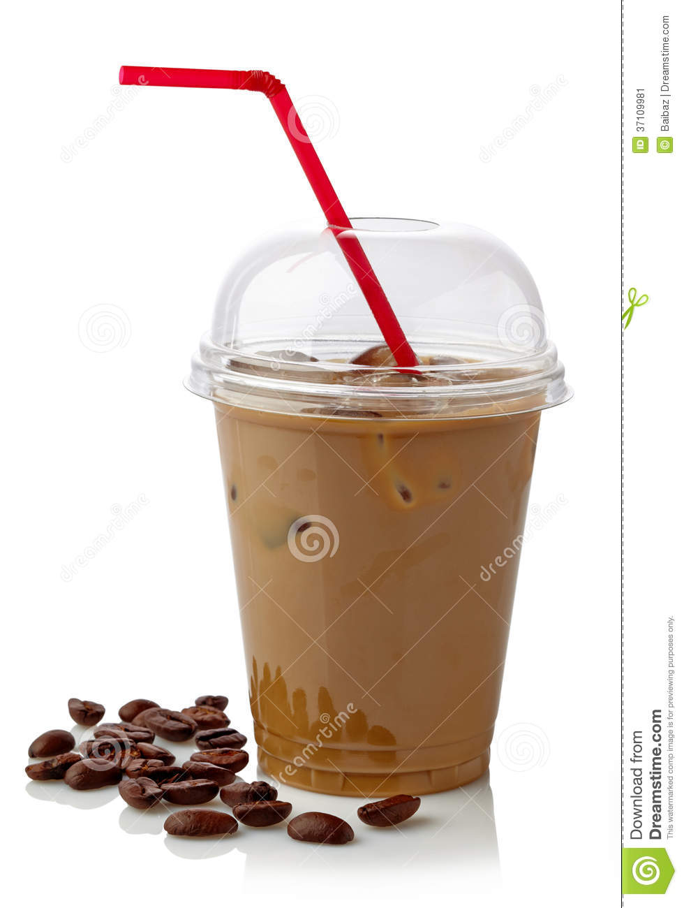 Iced coffee stock image. Image of refreshment, syrup ...
