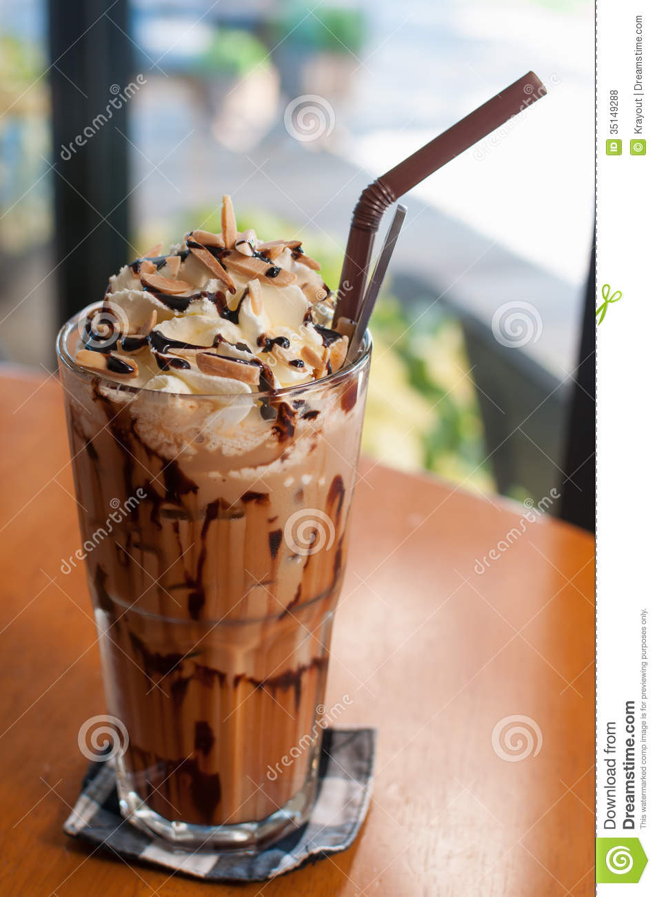 Iced Coffee Stock Photo Image Of Cool Mocha Cream