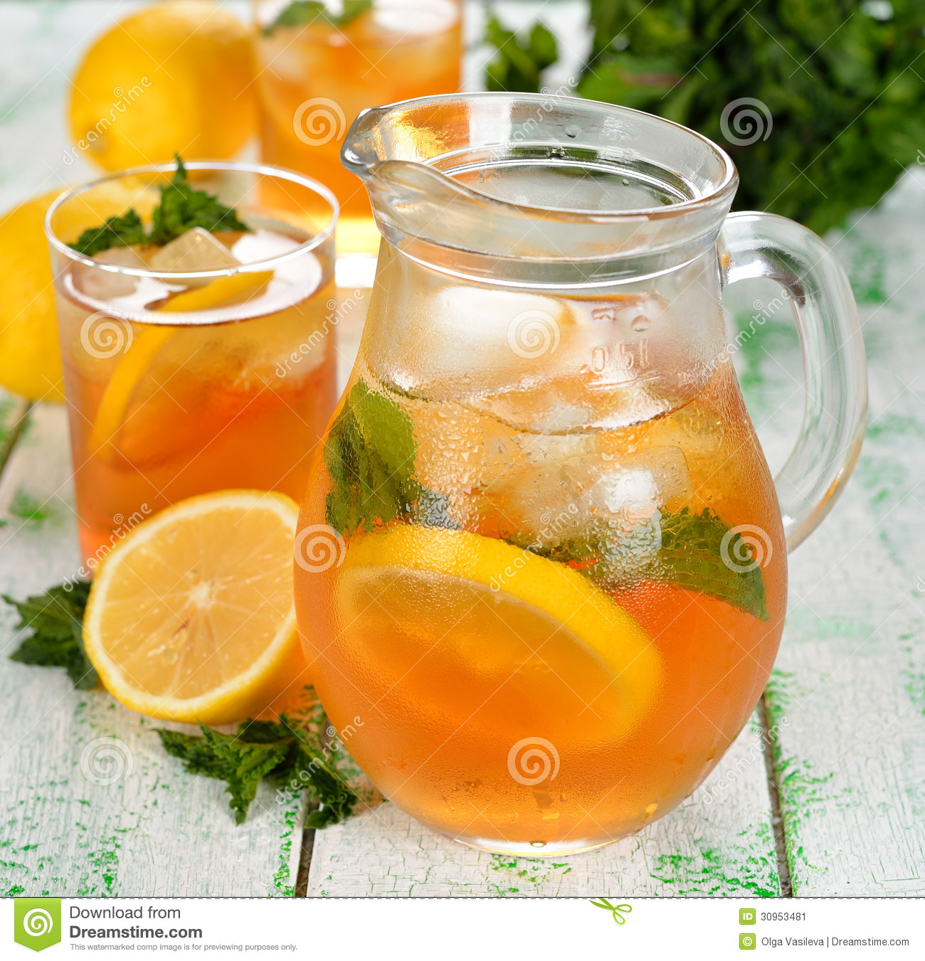 Iced Tea Stock Image - Image: 30953481