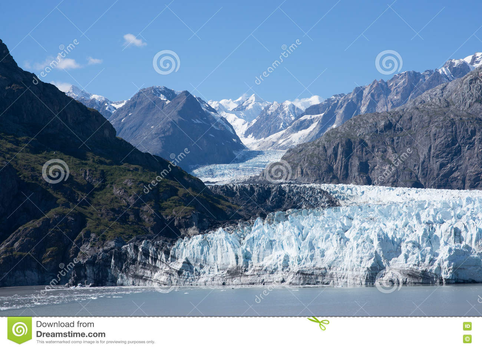 Icefield i Alaska, USA
