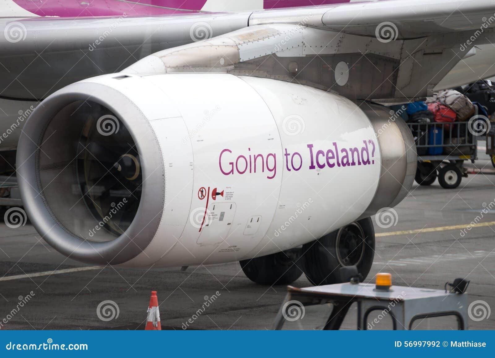 Iceland airplane engine
