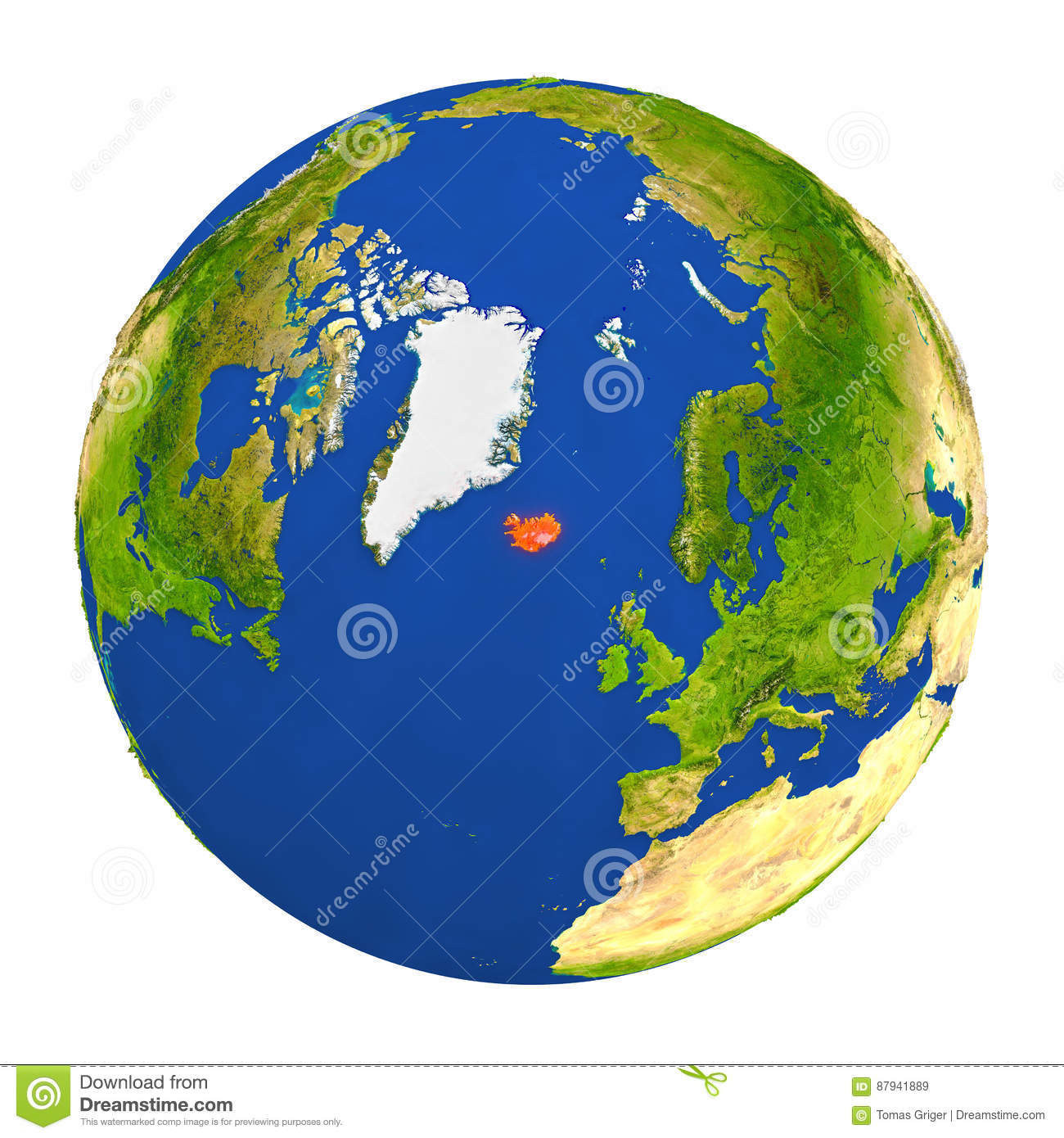 Iceland highlighted on earth stock illustration illustration of download comp gumiabroncs Gallery