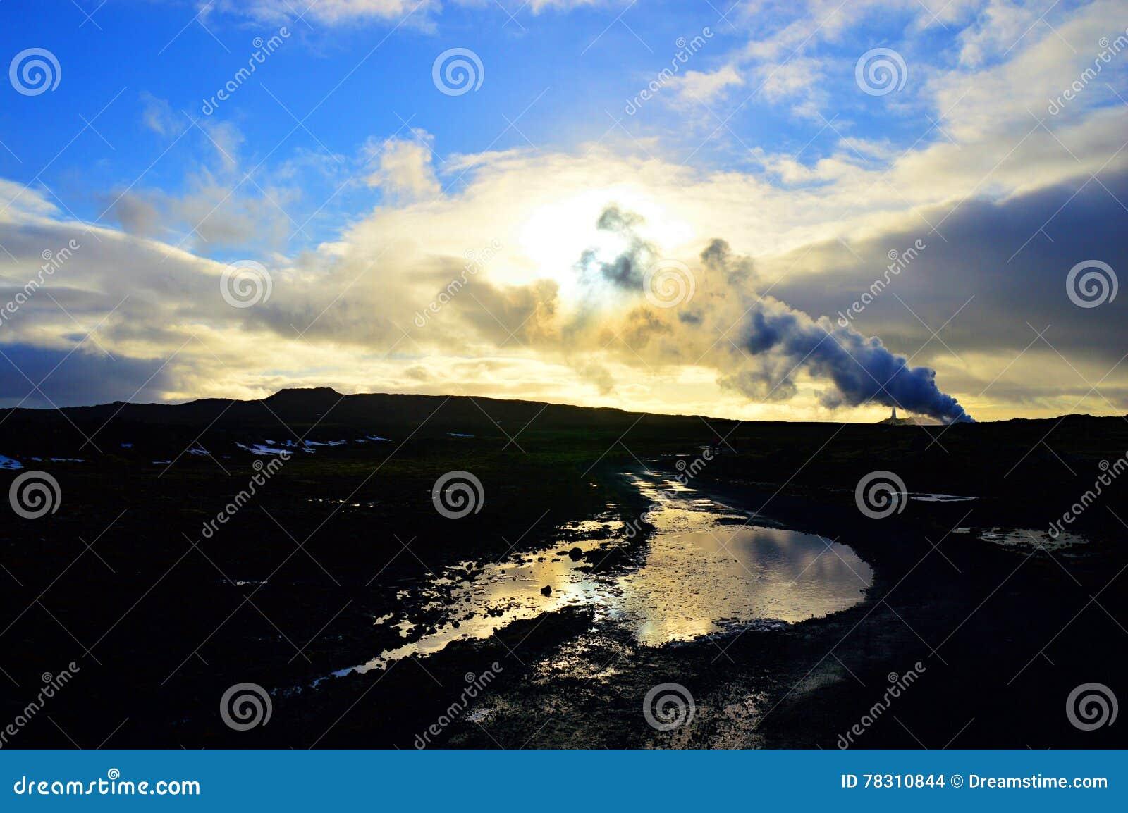 Iceland Lighthouse at dusk