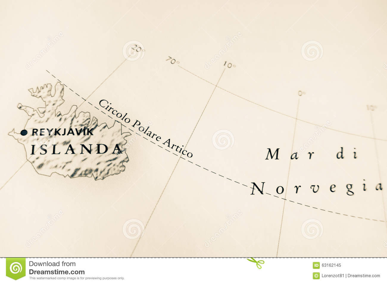 Global Warming Concept Map.Iceland Map For Global Warming Concept Stock Illustration