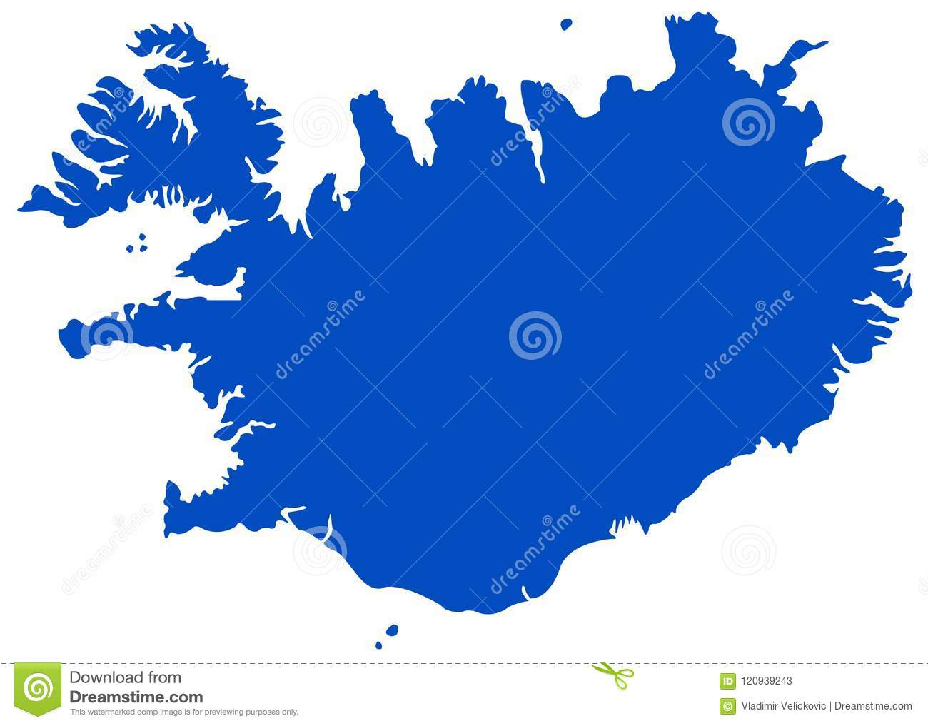 Nordic Europe Map.Iceland Map Nordic Island Country In Europe Stock Vector