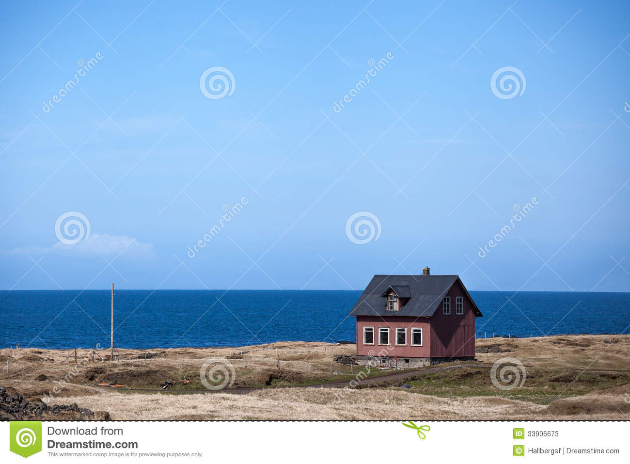 Iceland stock photos image 33906673 for Iceland lonely house