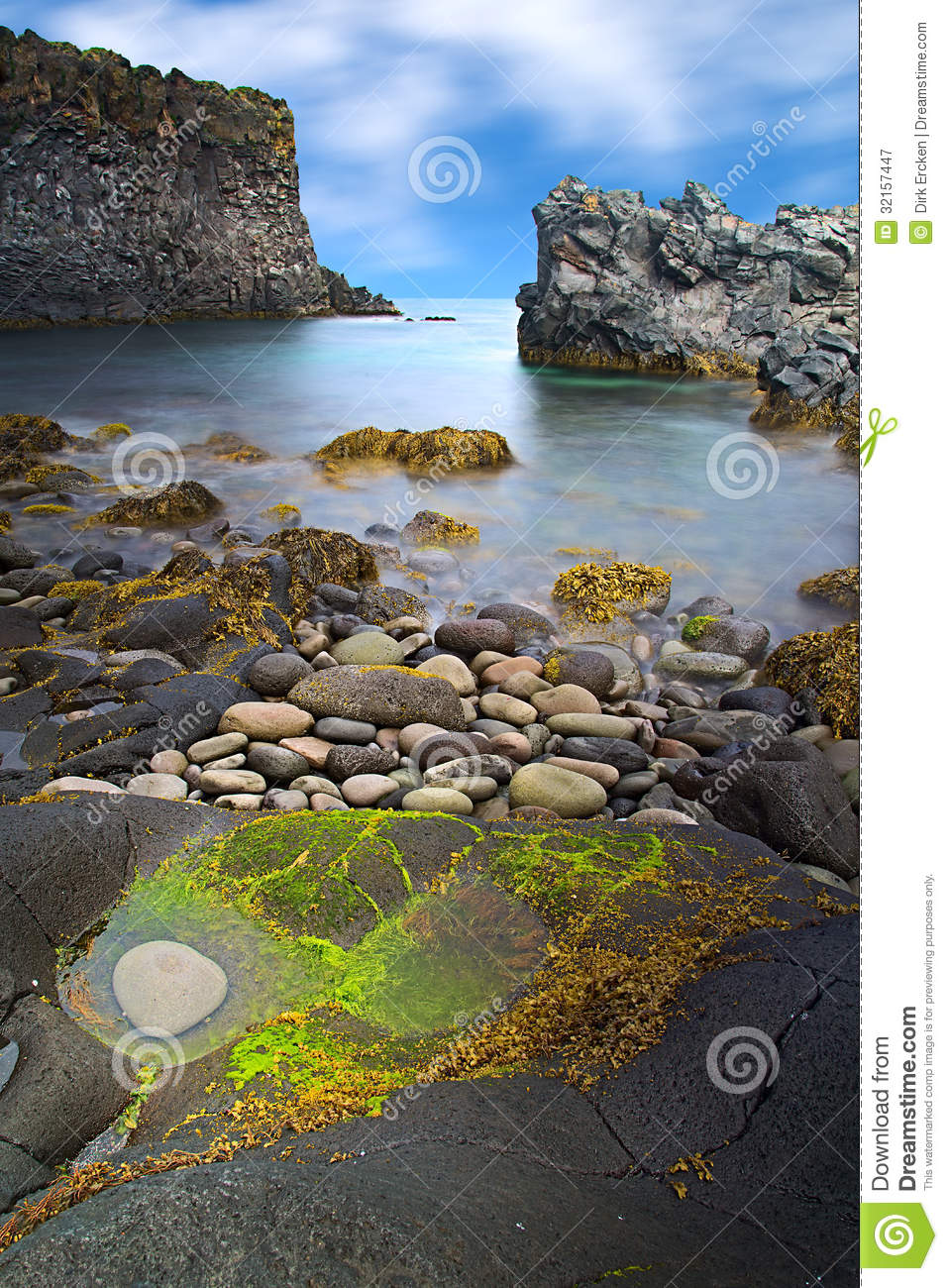 Iceland rocky coast landscape stock image image 32157447 for Smooth stones for landscaping
