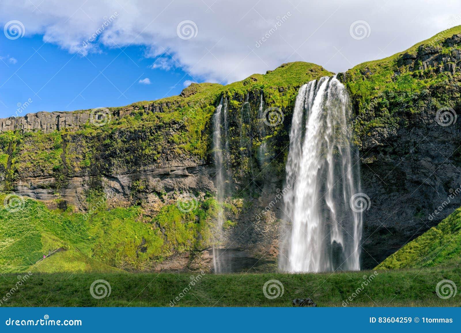 Iceland seljalandsfoss siklawa