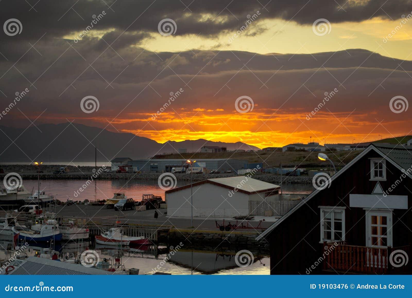 Iceland solnedgång