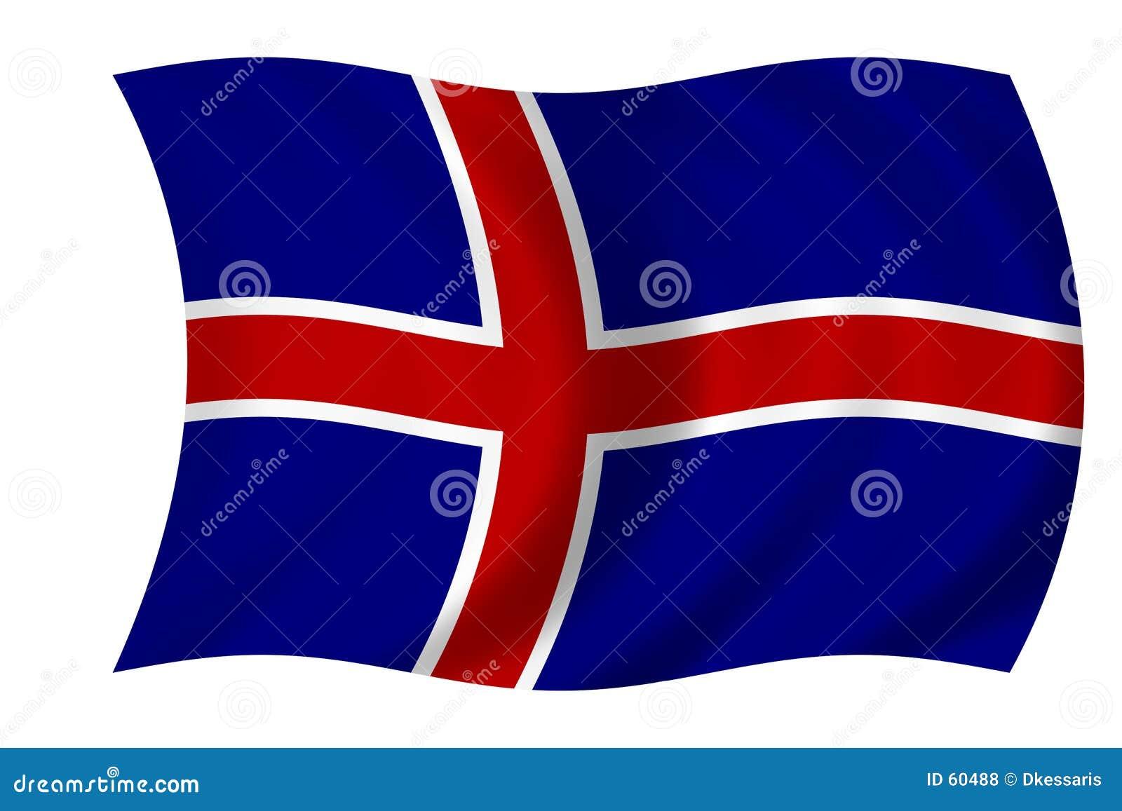 Icelandic флага