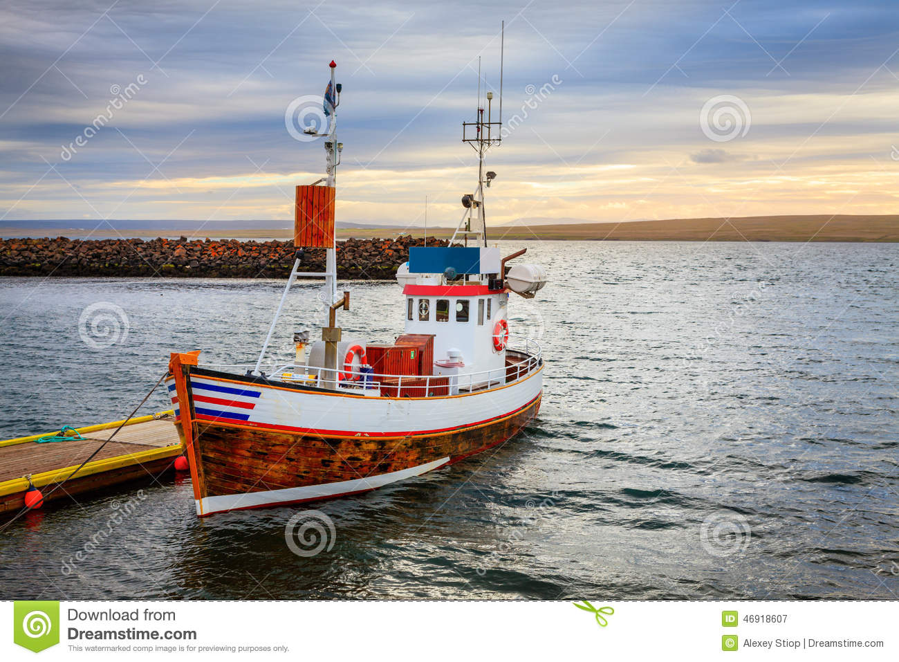 Icelandic fishing boat stock image image of nobody for A small fishing boat