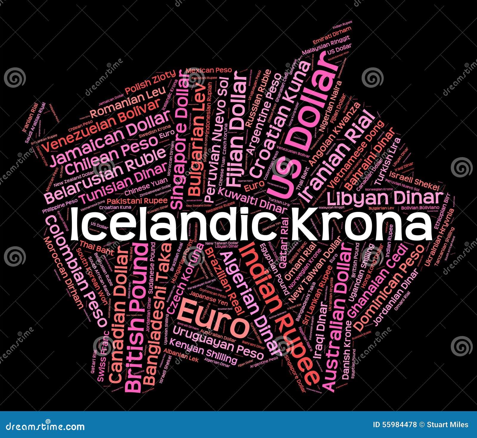 Icelandic Krona Shows Worldwide Trading And Exchange Stock
