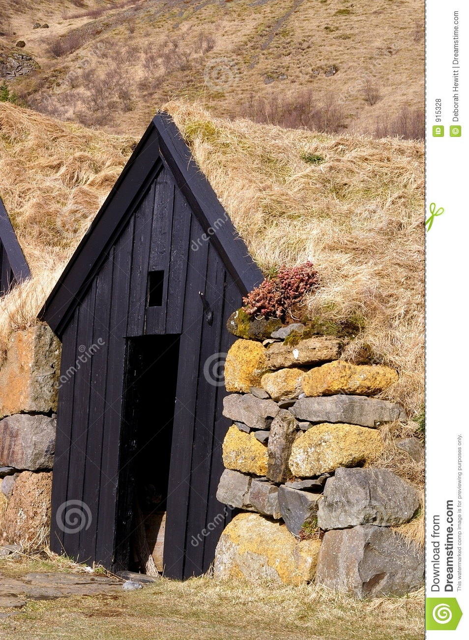 Icelandic Sod House Stock Photo Image Of Farm Insulation