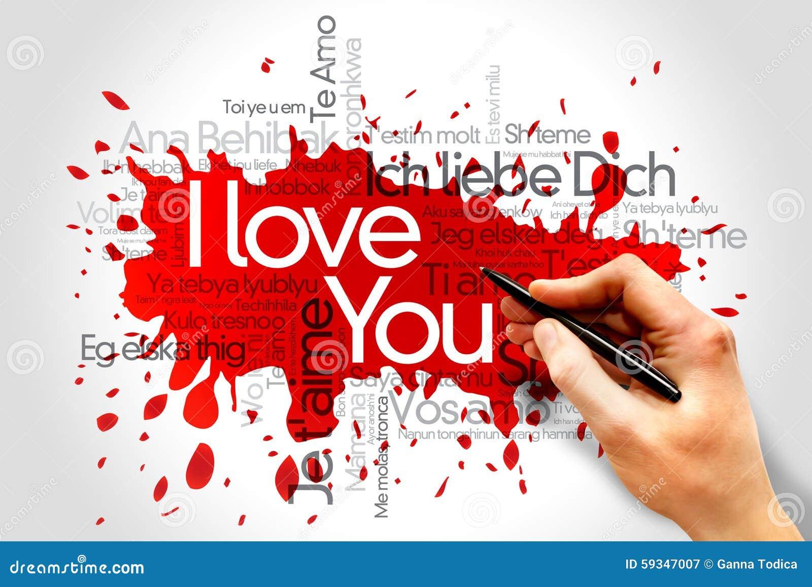 Ich Liebe Dich Allen Sprachen Der Welt Stock Images - 2 Photos