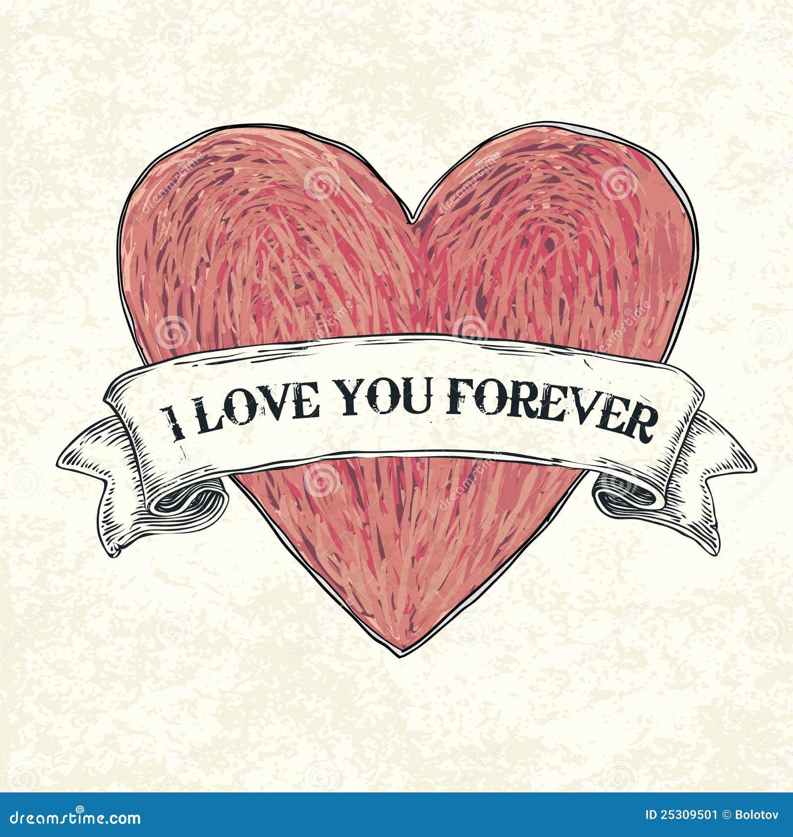 Ich liebe dich für immer. vektor abbildung. Illustration
