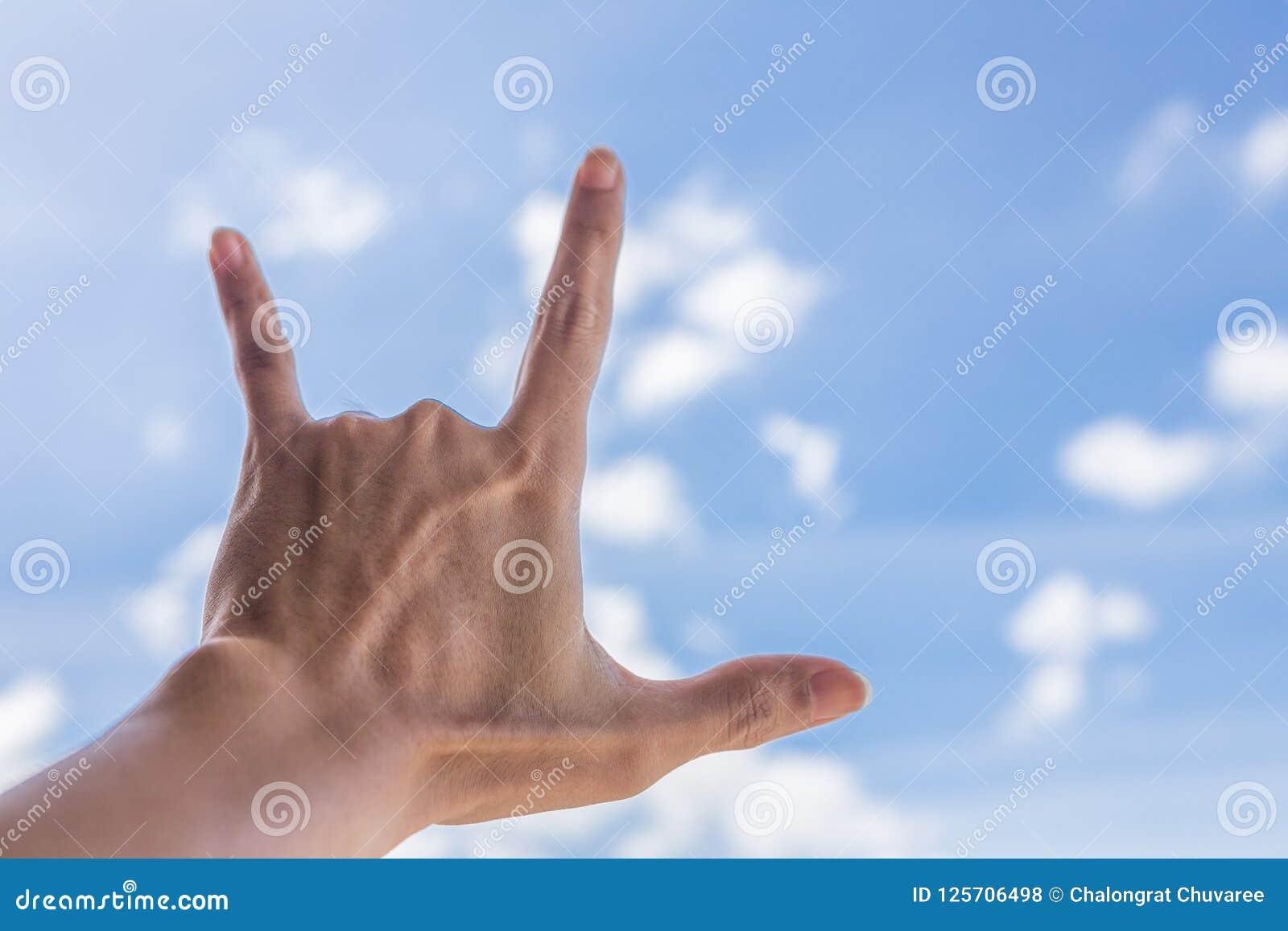 Ich liebe dich Handzeichen stockfoto. Bild von handzeichen