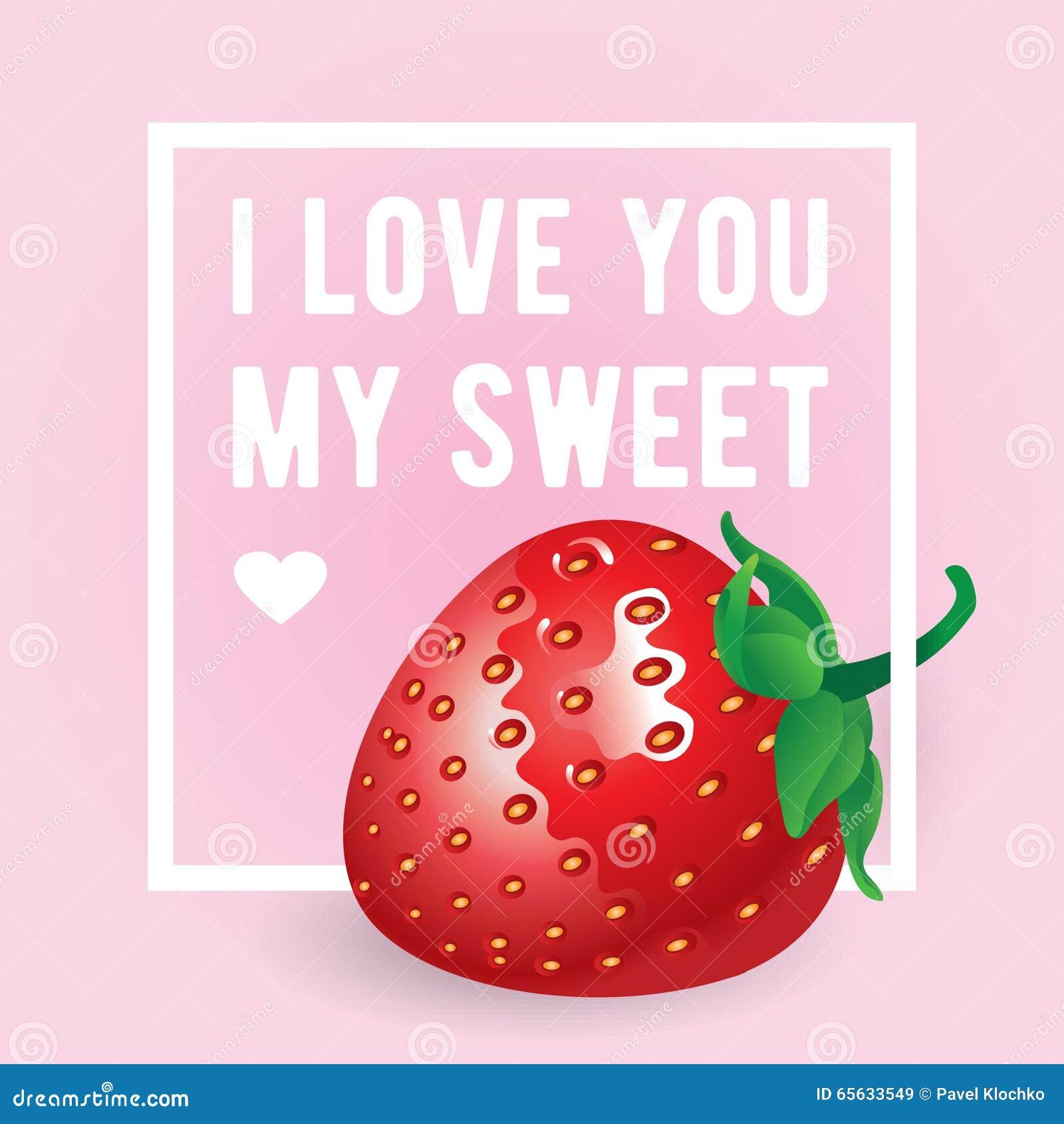 Ich Liebe Dich Meine Süße Aufschrift Vektorgrußkarte, -einladung ...