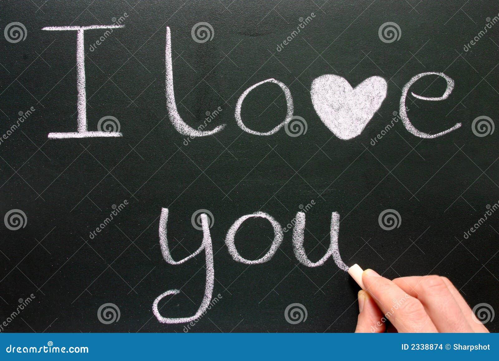 Ich liebe dich schreiben. stockfoto. Bild von liebe