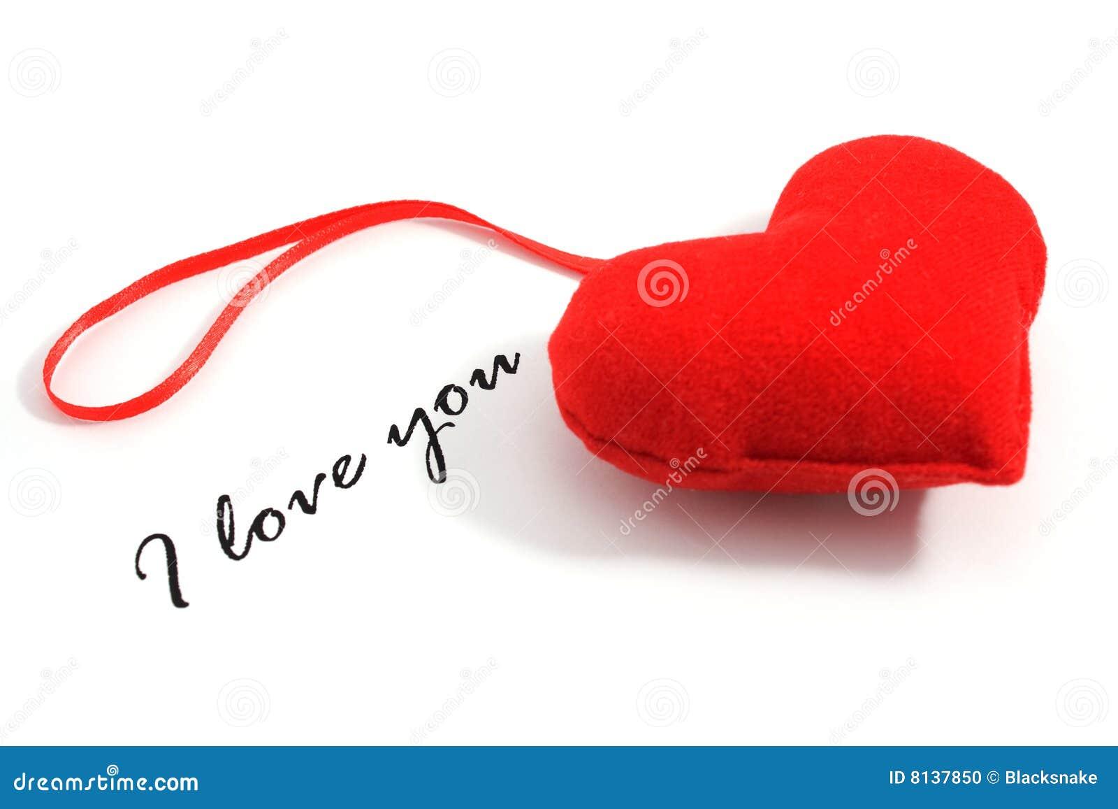 ich liebe dich text und inneres stockfoto bild 8137850. Black Bedroom Furniture Sets. Home Design Ideas