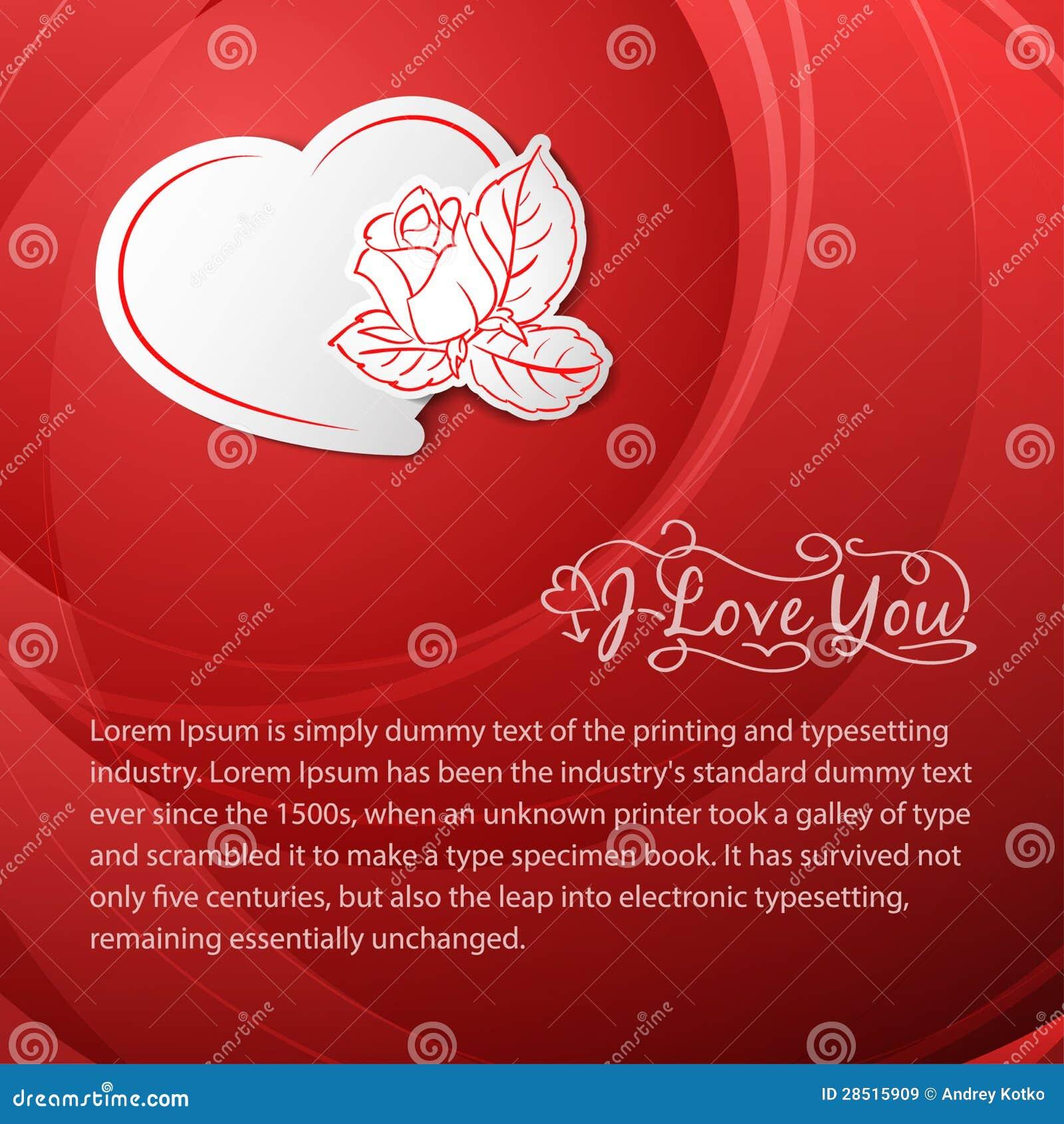Perfekt Ich Liebe Dich. Valentinstag Karte.