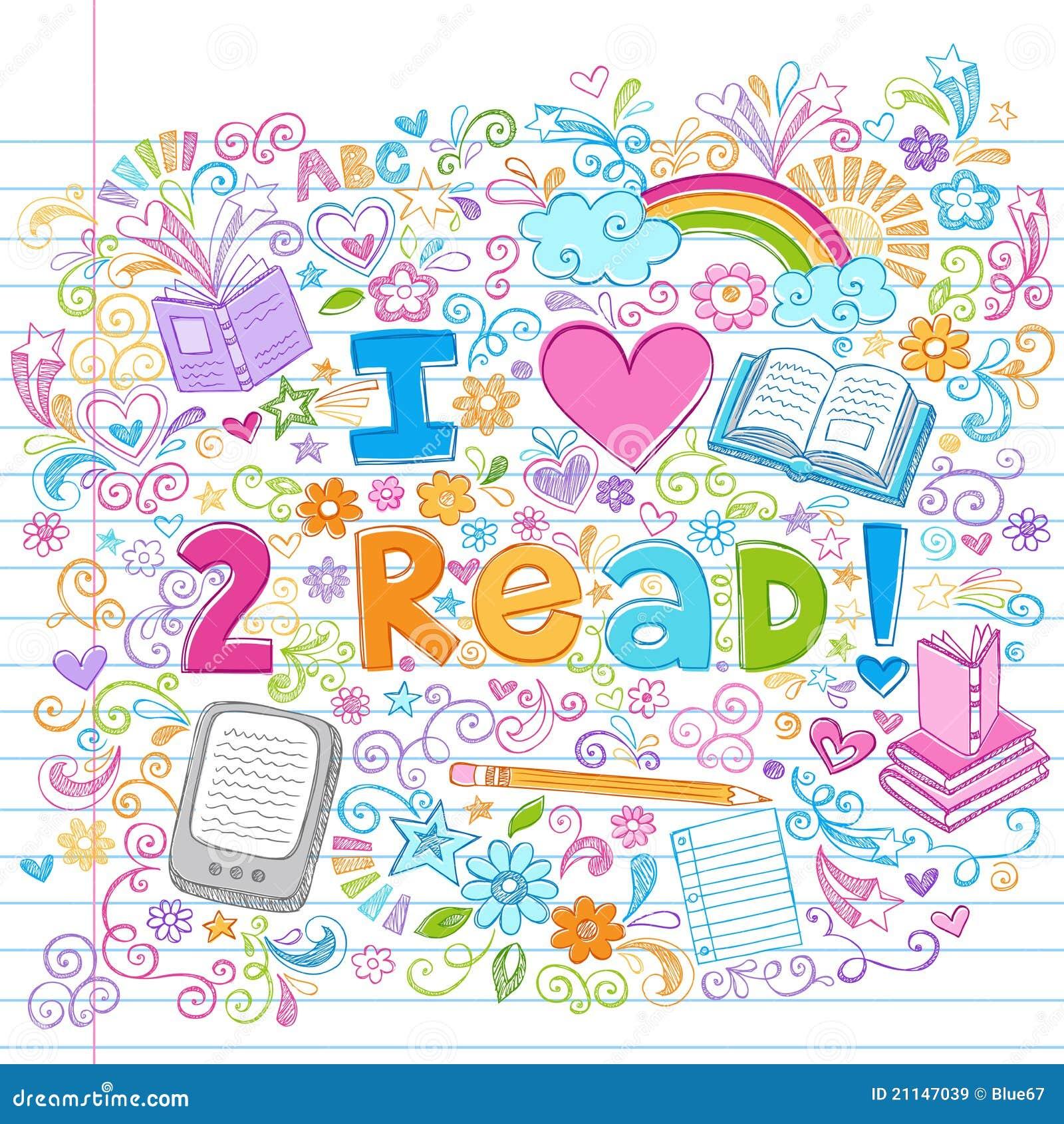 Ich liebe, flüchtiges zurück zu Schule-Gekritzeln zu lesen