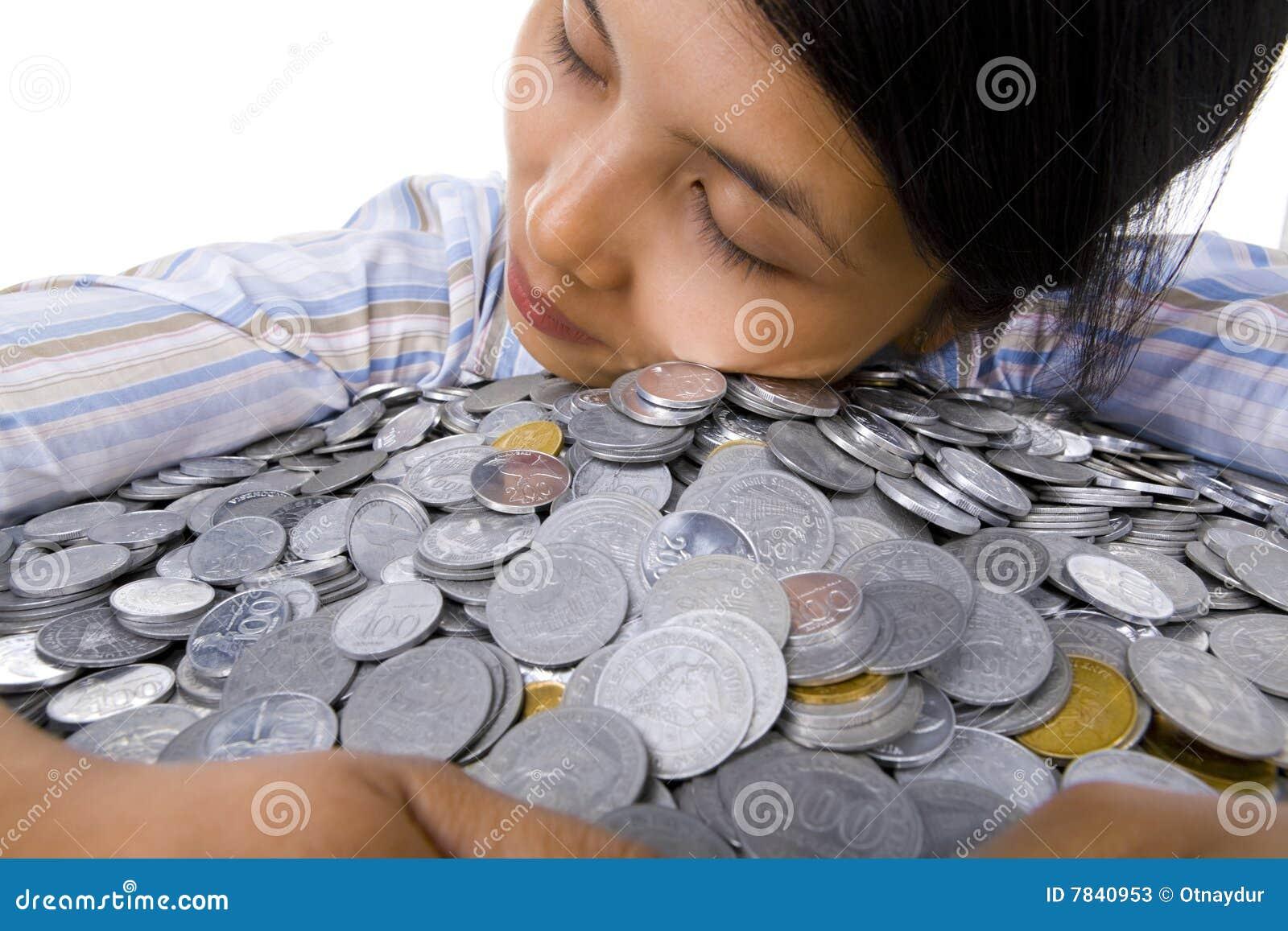 ich liebe geld stockbild bild von frieden stapel schlaf 7840953. Black Bedroom Furniture Sets. Home Design Ideas
