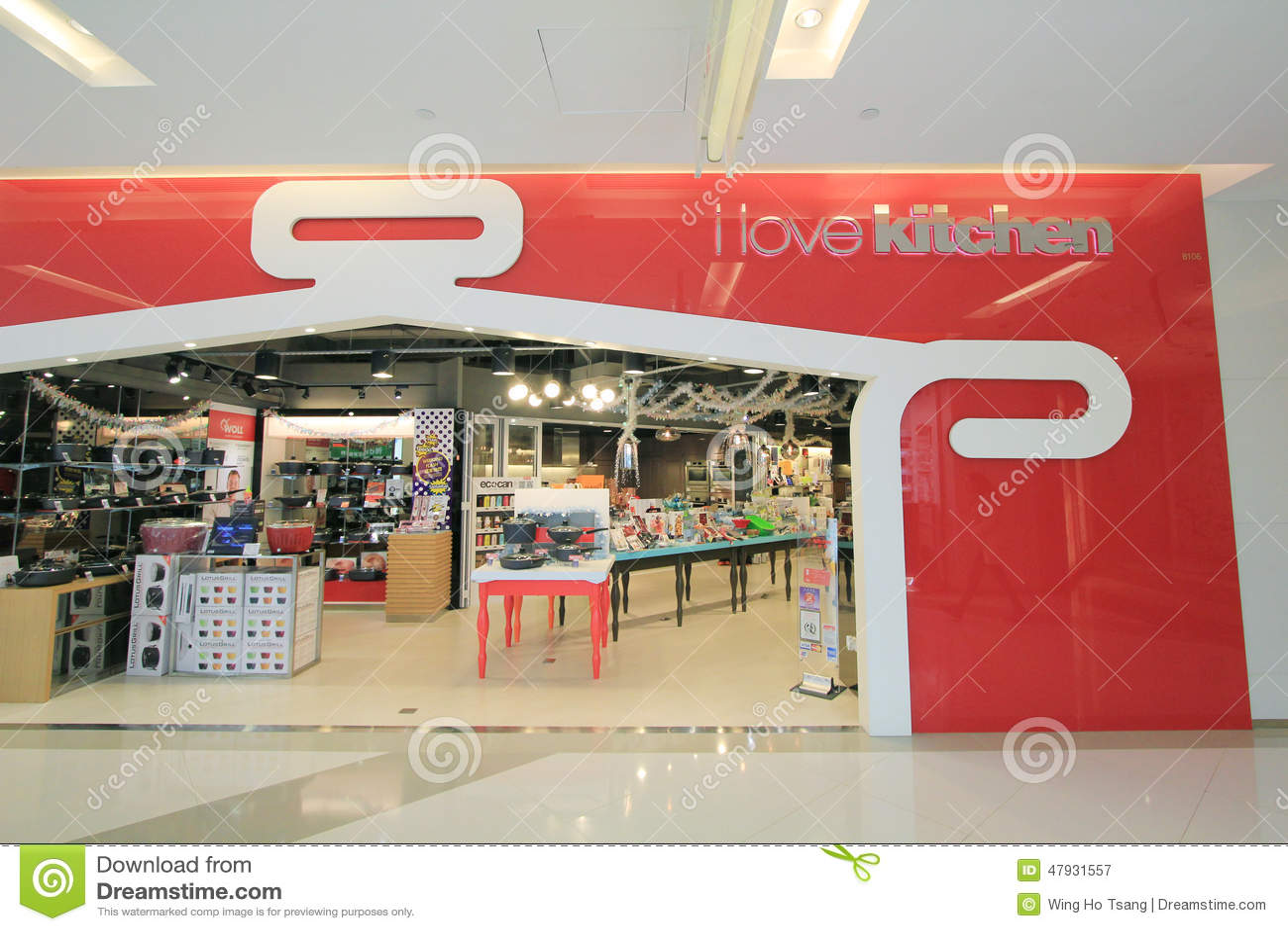 Küchenshop  Ich Liebe Küchenshop In Hong Kong Redaktionelles Stockfotografie ...