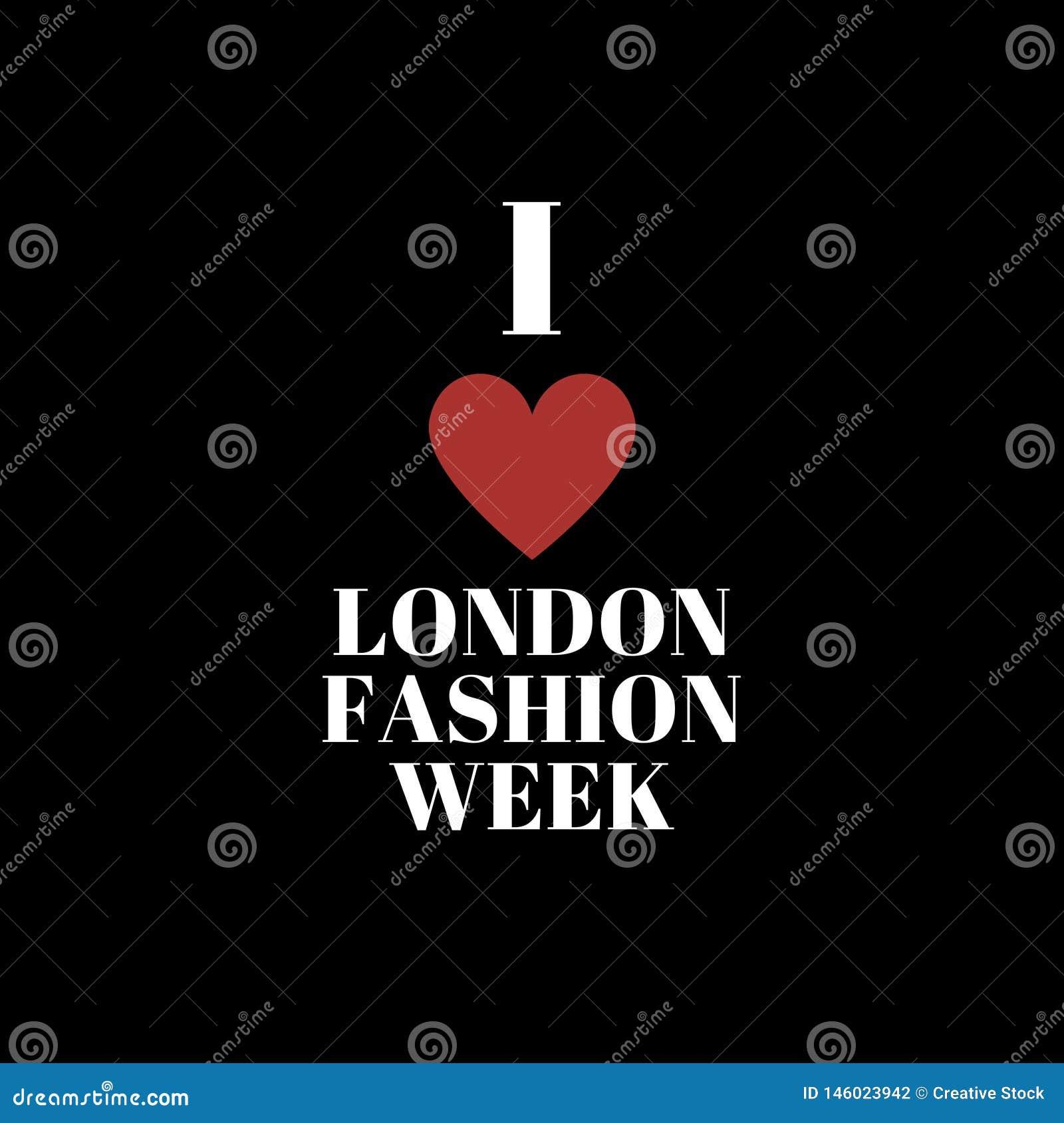 Ich liebe London-Modewochenplakat