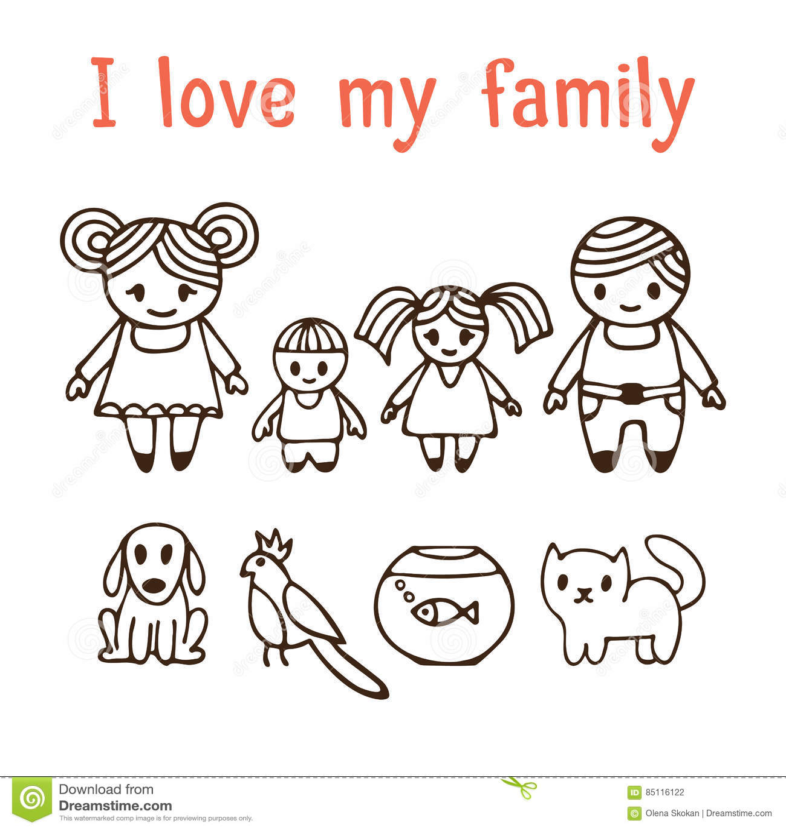 Am Besten Ich Liebe Meine Familie Glückliche Familie Mit Zwei Kindern In  KX89