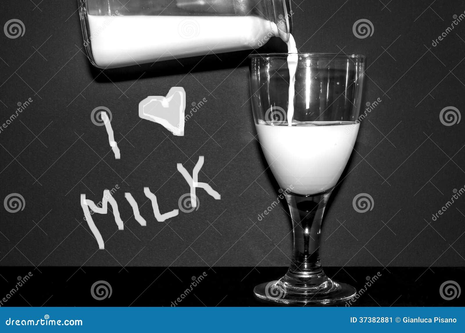 Ich liebe Milch
