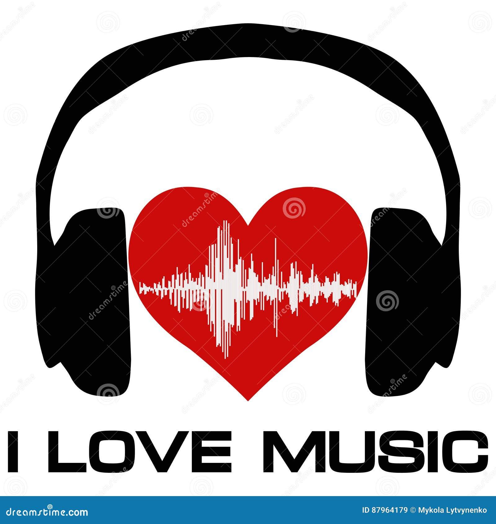 Ich liebe Musik, Vinylabdeckung für einen Musikfan