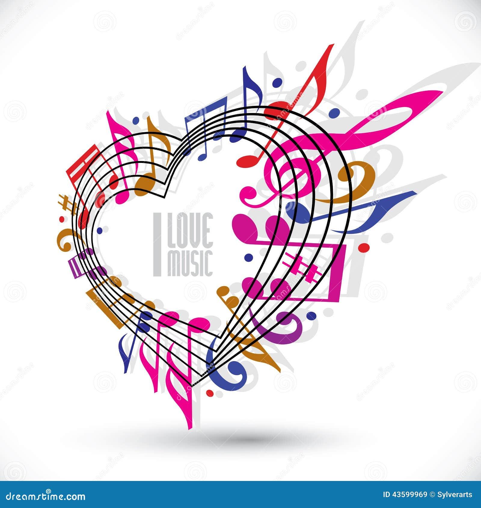 ich liebe musikschablone in den roten rosa und violetten