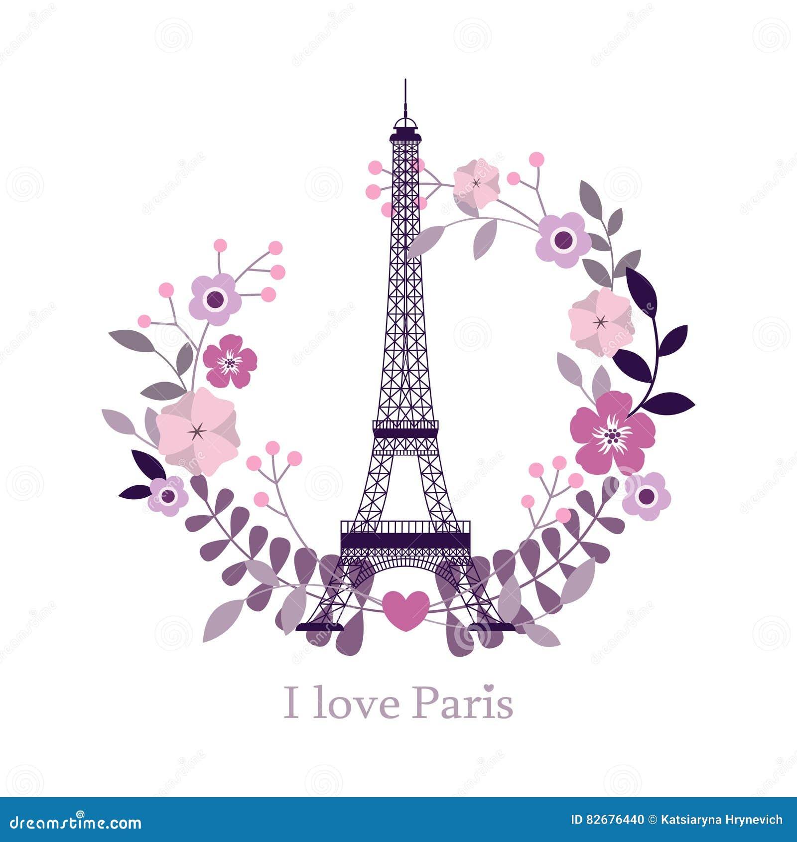 Ich liebe Paris Bild des Eiffelturms Auch im corel abgehobenen Betrag Paris-Hintergrund Mode stilvolles i Paris, Frankreich