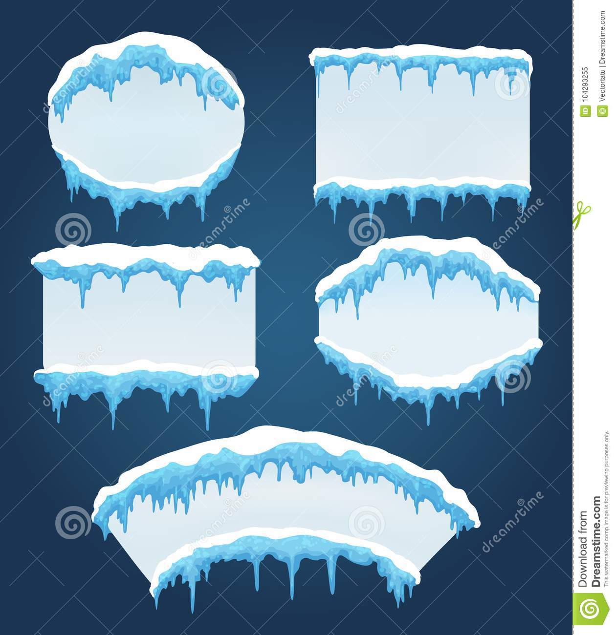 Icicles boards for sale stock vector. Illustration of frame - 104293255